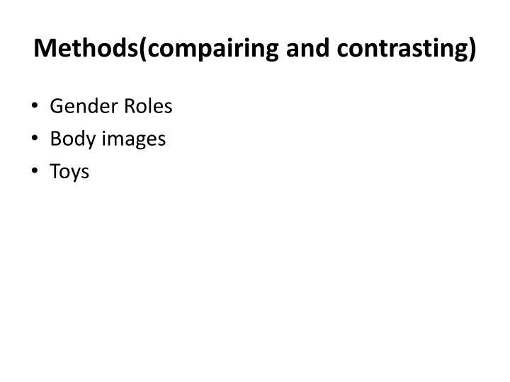 Methods(compairing