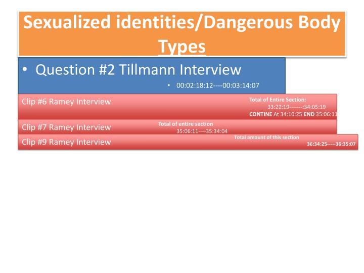 Sexualized identities/Dangerous Body