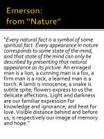emerson from nature