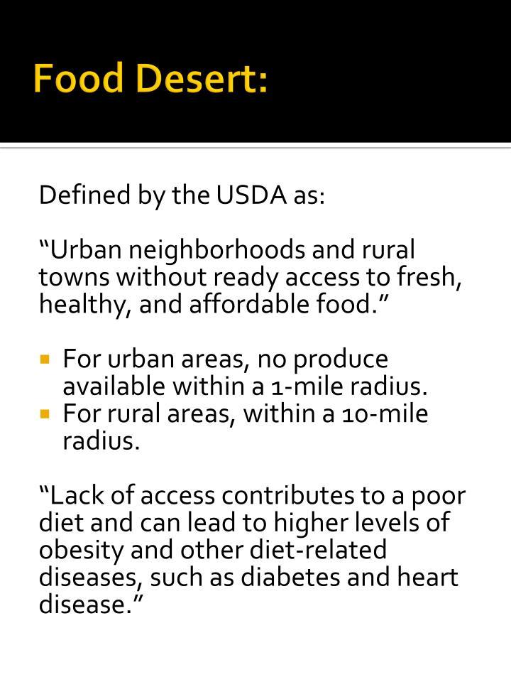 Food Desert: