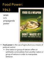 food power 1943
