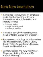 new new journalism