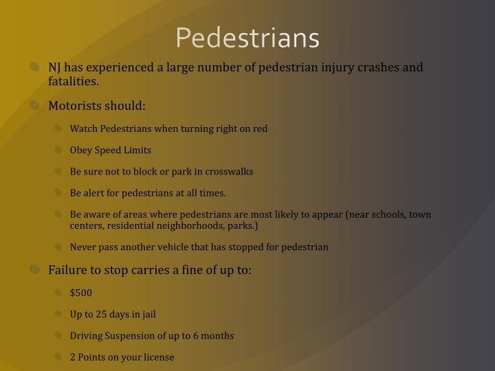 Pedestrians