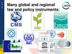 many global and regional law and policy instruments