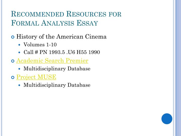 Recommended Resources for