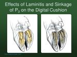 effects of laminitis and sinkage of p 3 on the digital cushion
