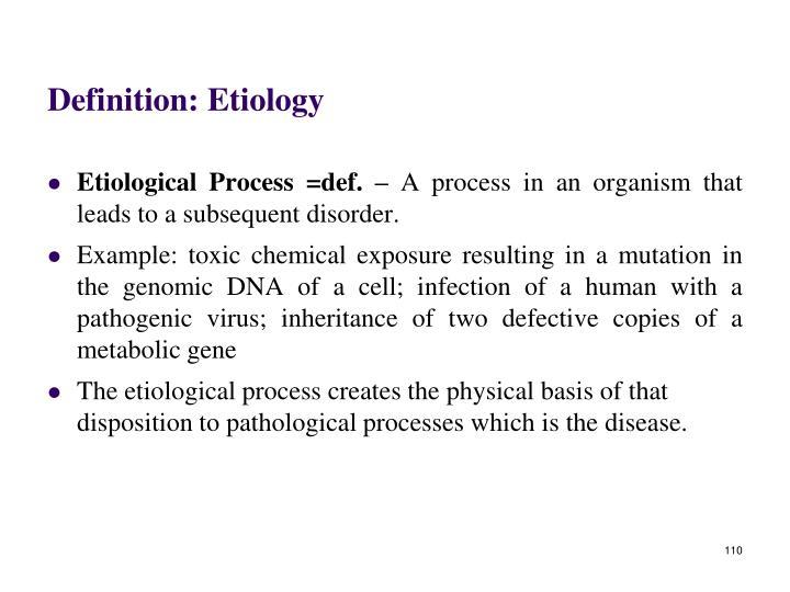 Definition: Etiology