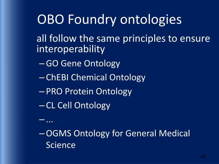 OBO Foundry ontologies
