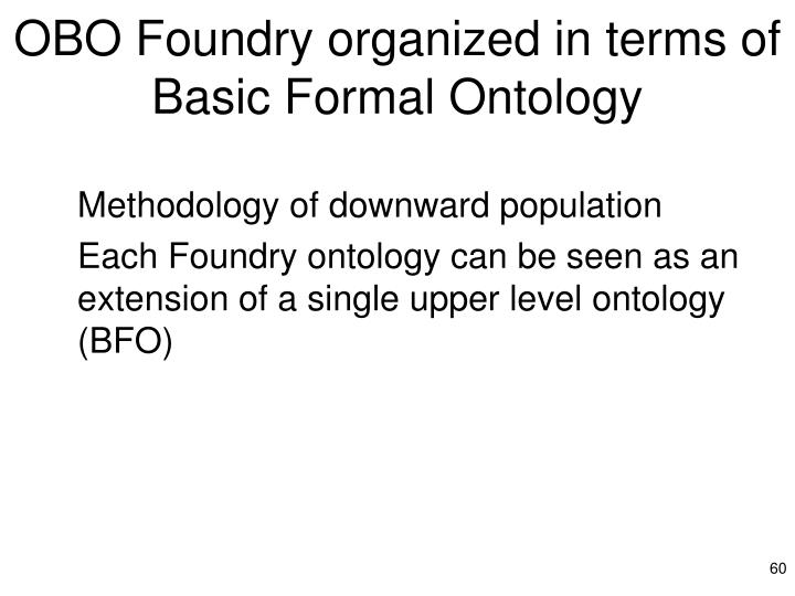 OBO Foundry organized in terms of Basic Formal Ontology
