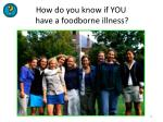 how do you know if you have a foodborne illness