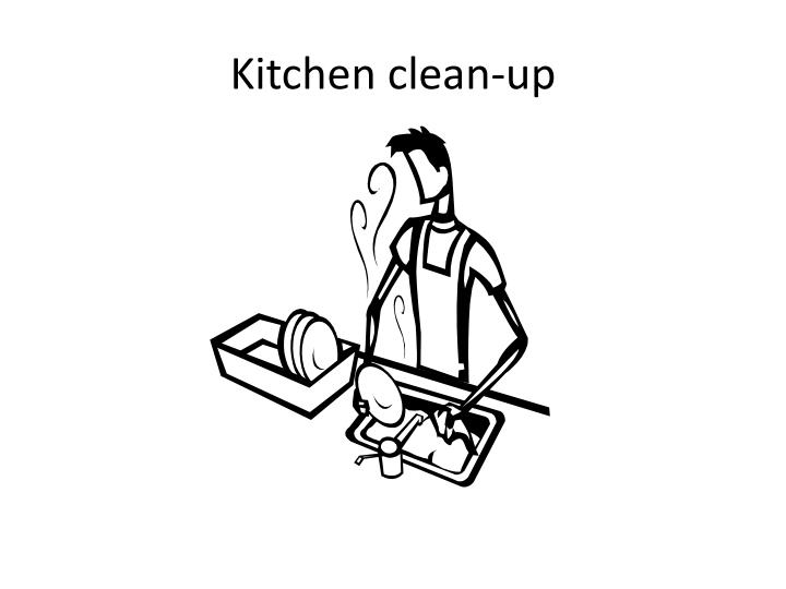 Kitchen clean-up