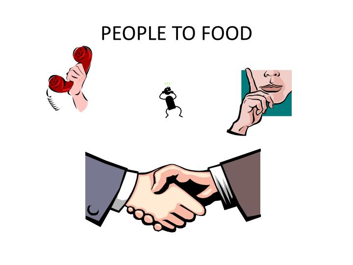 PEOPLE TO FOOD