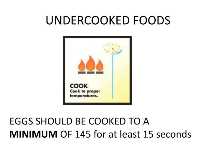 UNDERCOOKED FOODS