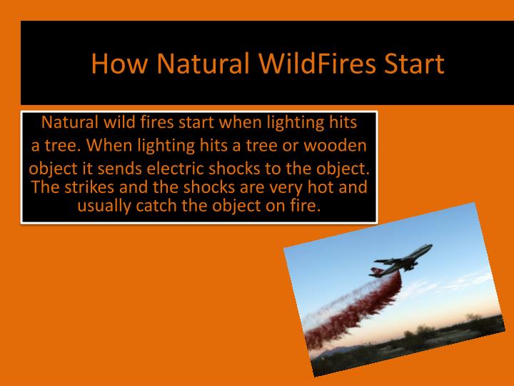 How natural wildfires start