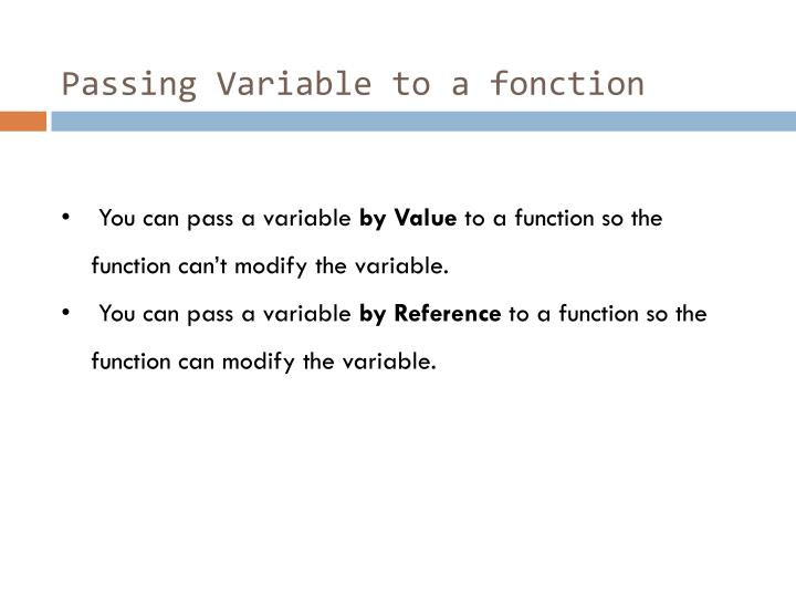 Passing Variable to a