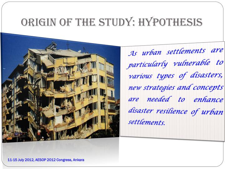 Origin of the study hypothesis