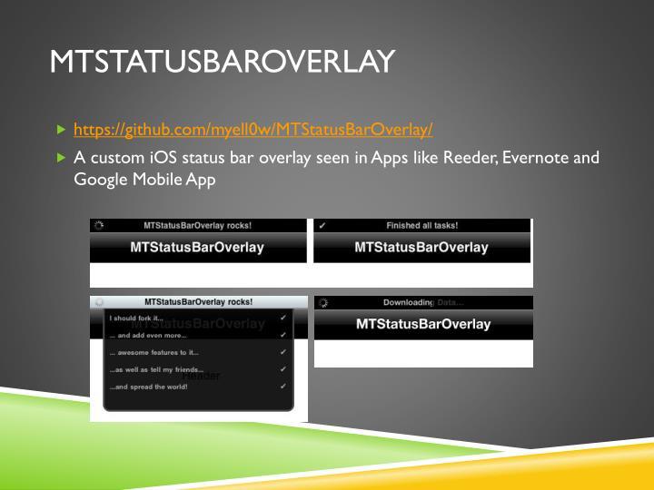 MTStatusBarOverlay