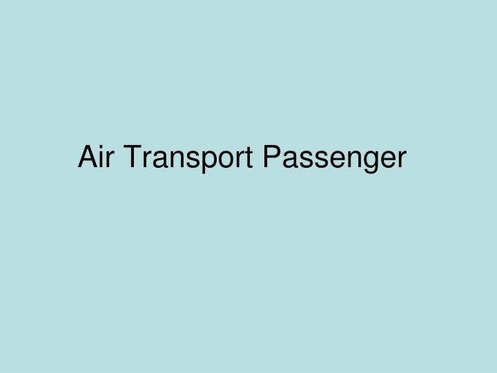 Air Transport Passenger