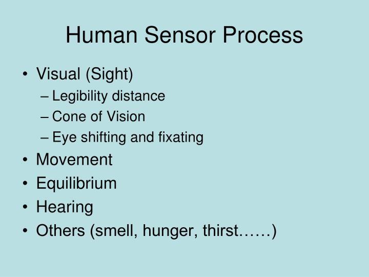 Human Sensor Process