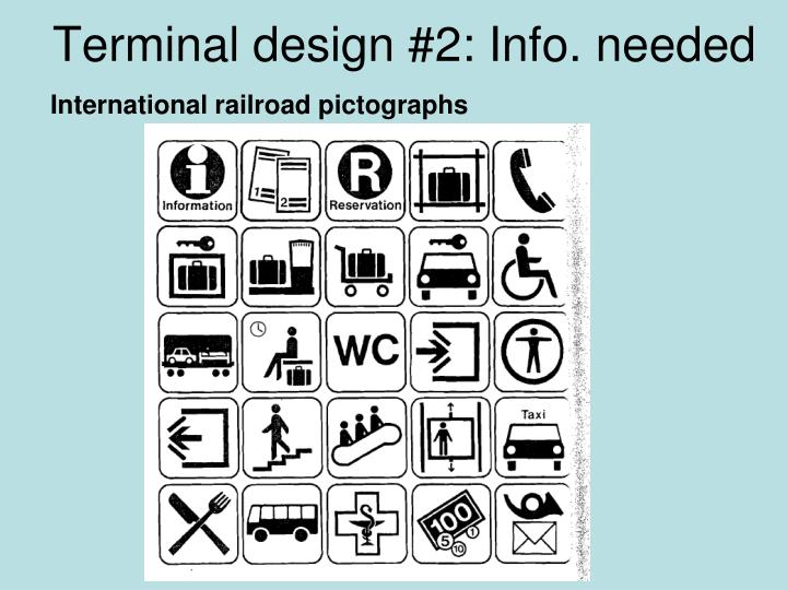 Terminal design #2: Info. needed