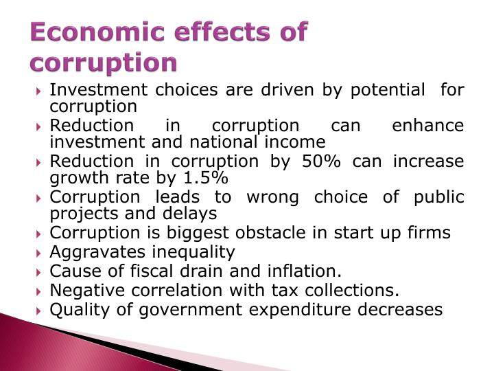 monetary corruption and the consequences it Causes and consequences of corruption - download as pdf file (pdf), text file (txt) or read online for sane society.