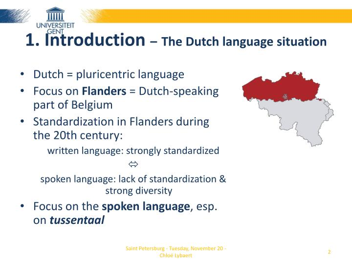 1 introduction the dutch language situation