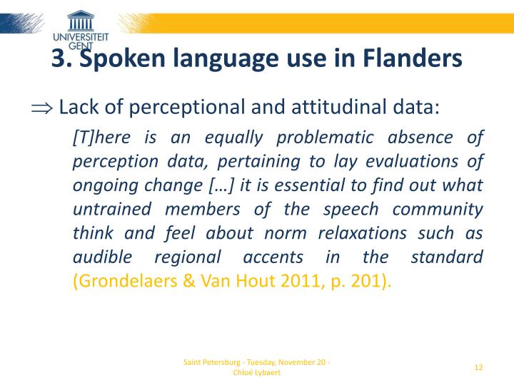 3. Spoken language use in Flanders