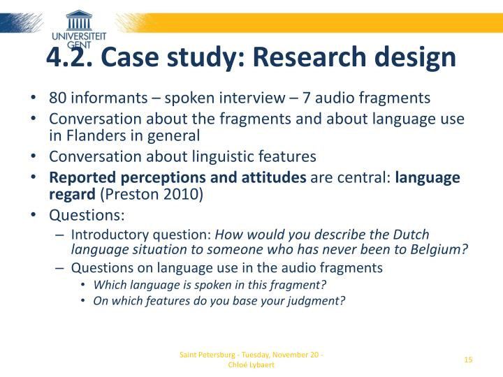 4.2. Case study: Research design