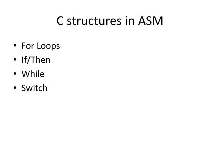C structures in ASM
