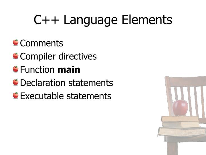 C++ Language Elements