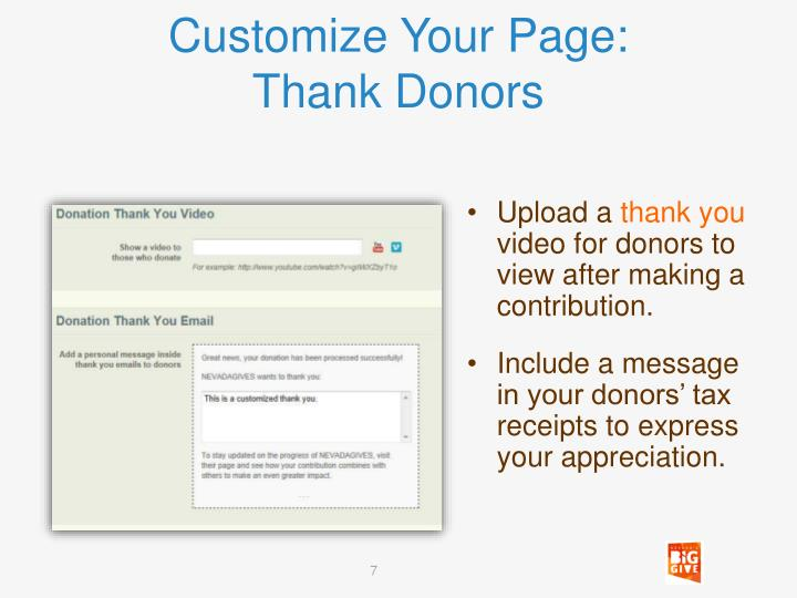 Customize Your Page: