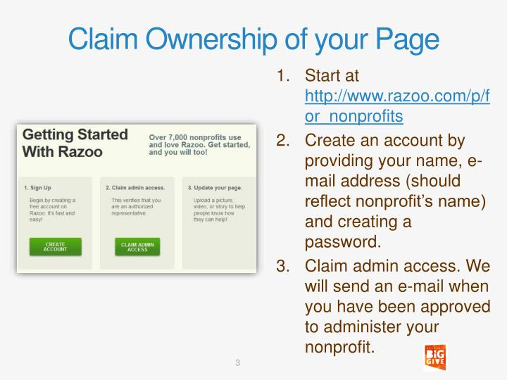 Claim Ownership of your Page