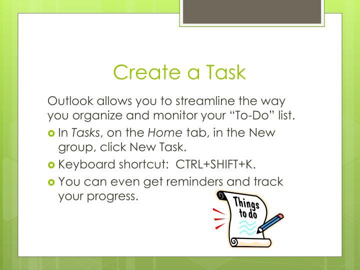 Create a Task