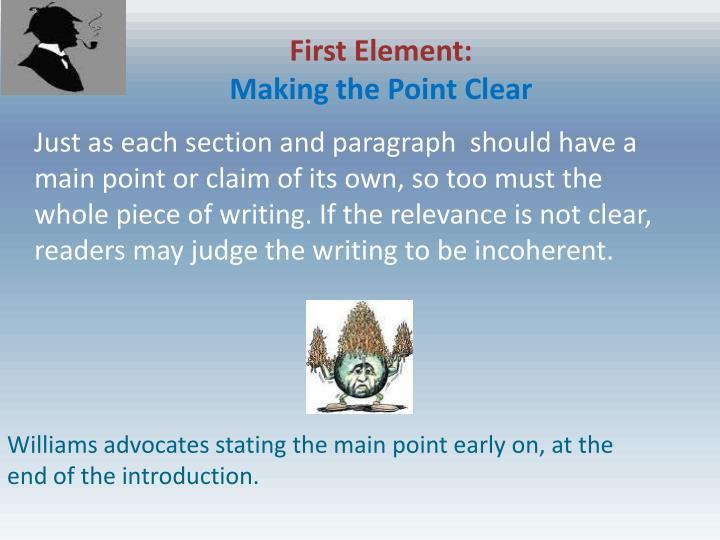 First Element: