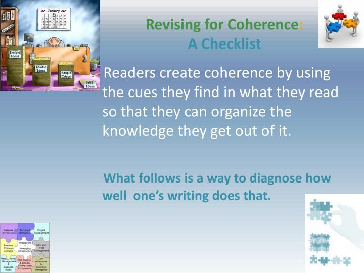 Revising for Coherence