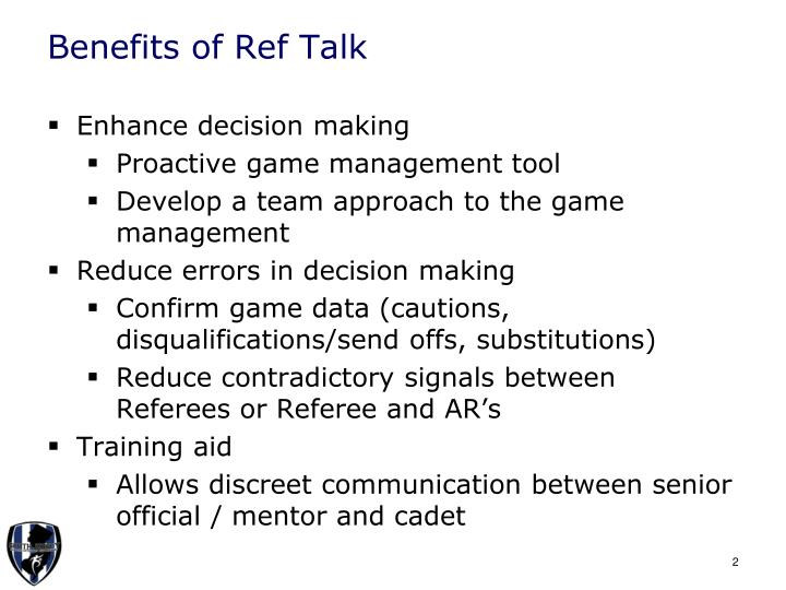 Benefits of Ref Talk