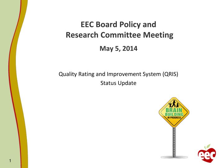 Eec board policy and research committee meeting may 5 2014