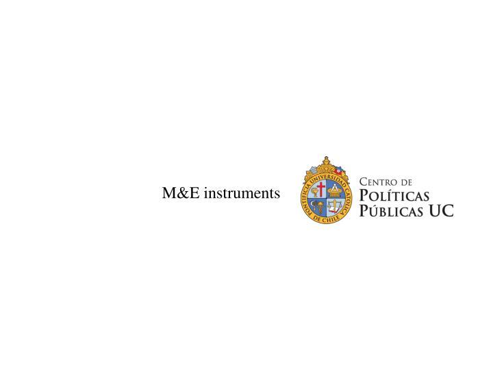 M&E instruments