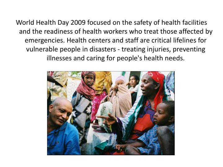 World Health Day 2009