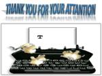 thank you for your attantion