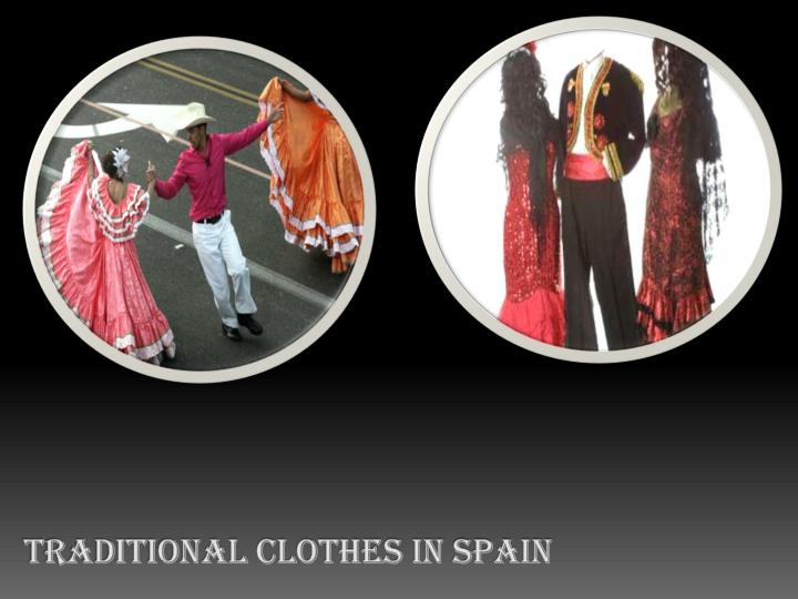 Traditional clothes in spain
