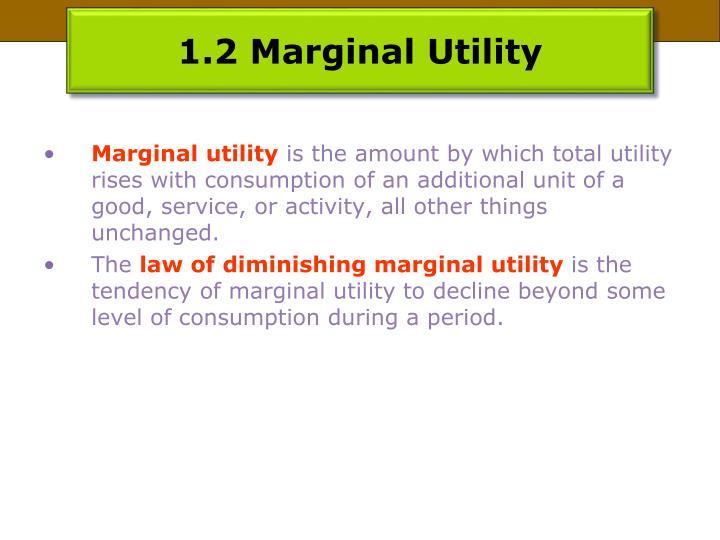 1.2 Marginal Utility