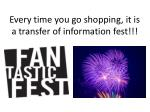 every time you go shopping it is a transfer of information fest