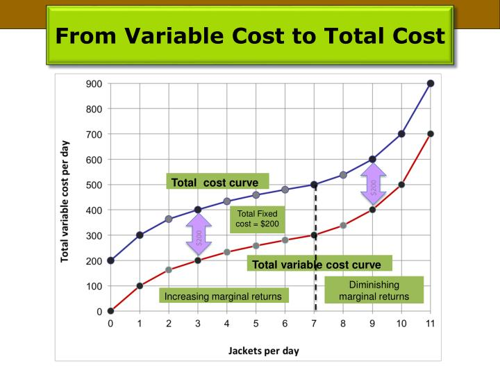 From Variable Cost to Total Cost