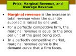 price marginal revenue and average revenue