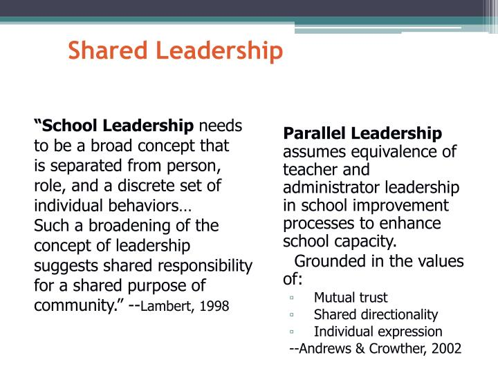 """School Leadership"