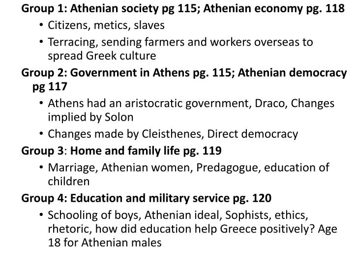 Group 1: Athenian