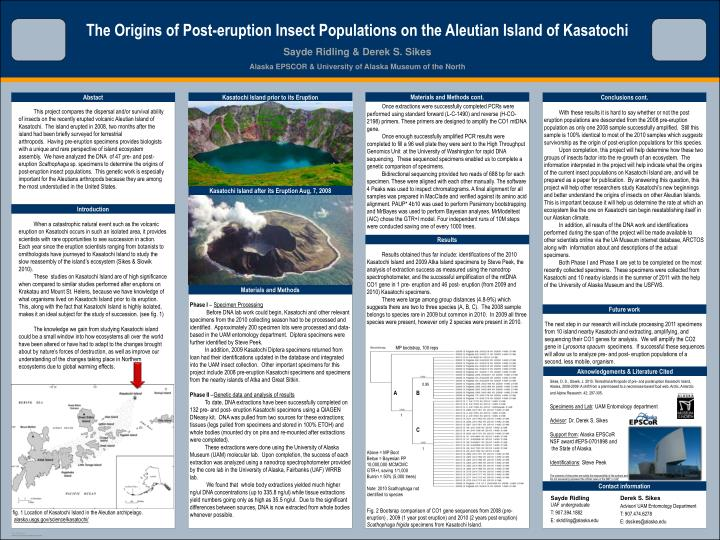 The Origins of Post-eruption Insect Populations on the Aleutian Island of Kasatochi