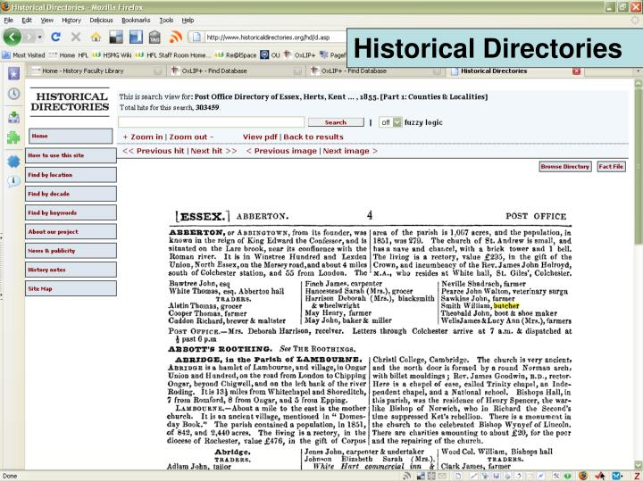 Historical Directories
