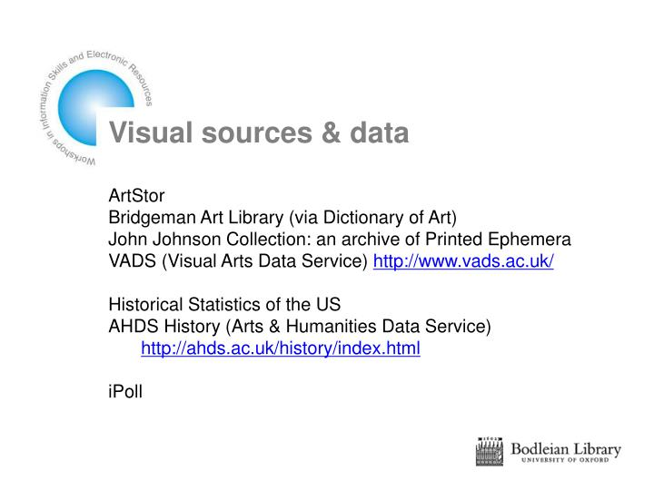 Visual sources & data